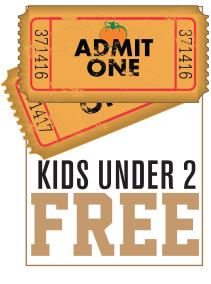 Kids under 2 FREE